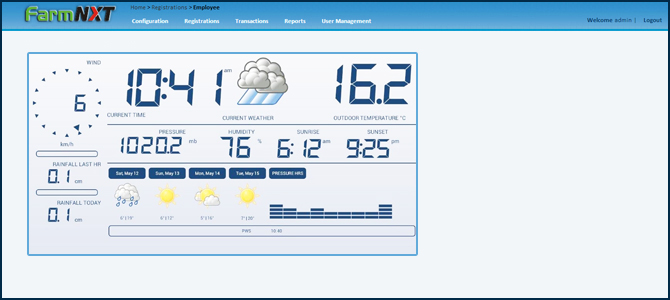 Weather information , farmNXT